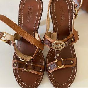 Michael Kors Leather Heels Sandals size 8.5